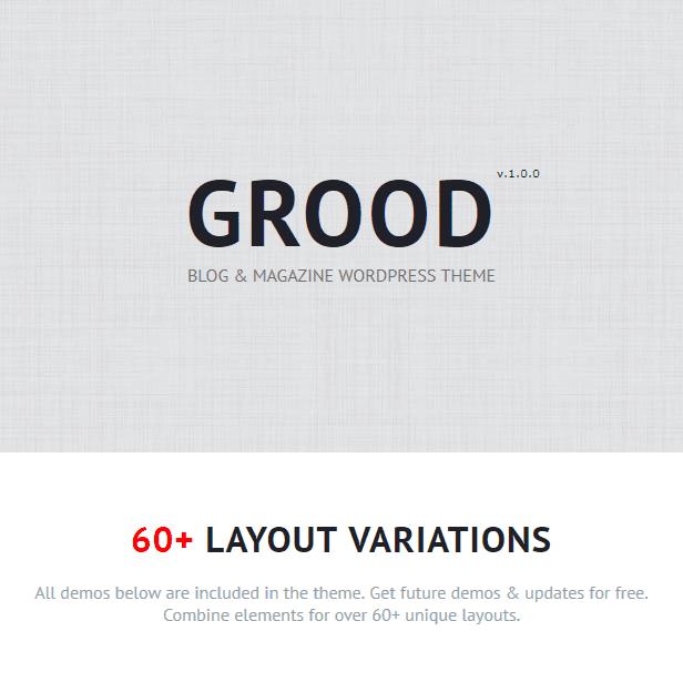 Grood - Persönliches Blog & Magazin WordPress Theme - 1