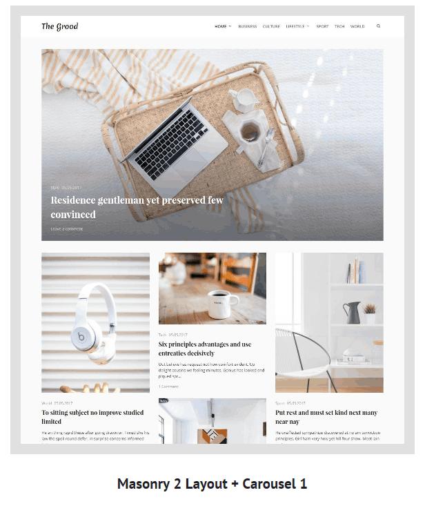 Grood - Persönliches Blog & Magazin WordPress Theme - 2