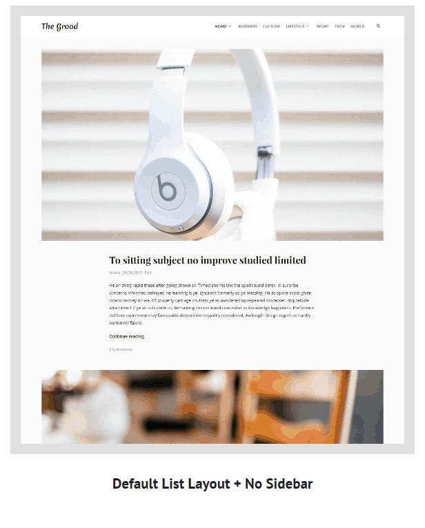 Grood - Persönliches Blog & Magazin WordPress Theme - 3
