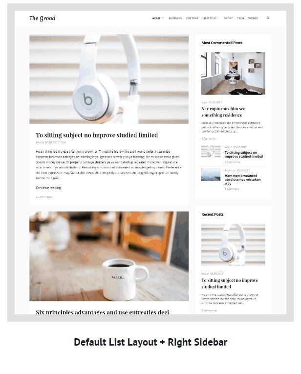 Grood - Persönliches Blog & Magazin WordPress Theme - 6