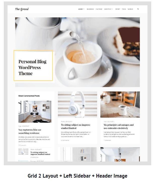 Grood - Persönliches Blog & Magazin WordPress Theme - 7